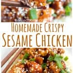 Skip the take-out and make your very own Homemade Crispy Sesame Chicken with simple and easy ingredients you already have in your pantry! #sesamechicken #recipe #takeout #easy #asiansauce