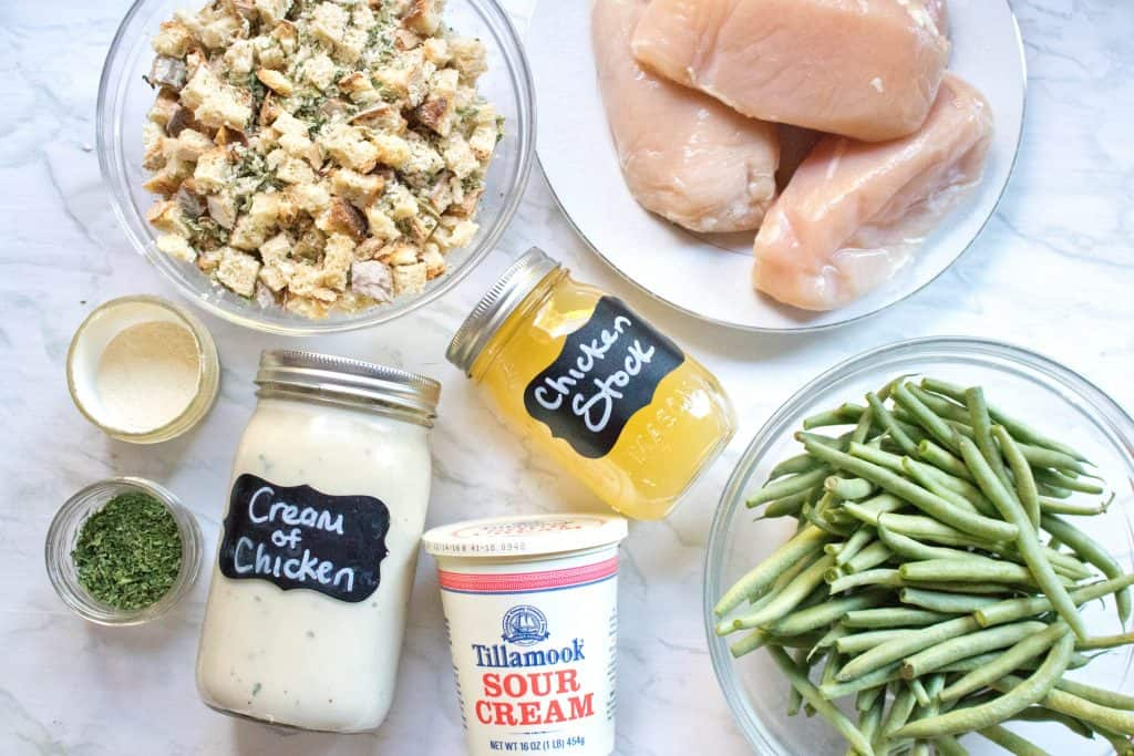 It's a whole chicken and stuffing dinner made right in your crock pot. But this Crock Pot Chicken and Stuffing From Scratch is made without any canned or boxed ingredients!