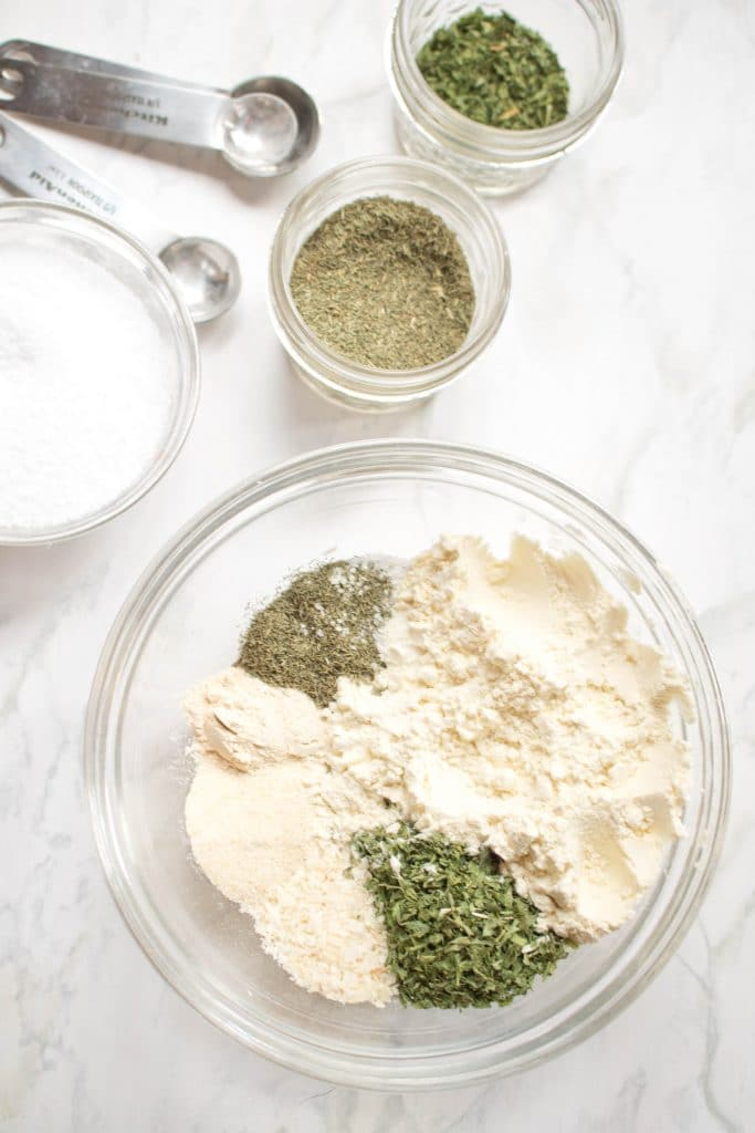Forget the store bought packet.  You can make your own Homemade Ranch Dressing Mix in just minutes!