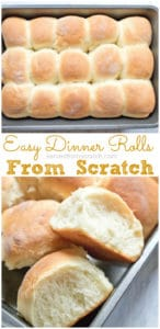 Homemade bread is always better and these Easy Dinner Rolls From Scratch are so simple to make that you'll never want to go back to store bought again! #recipe #dinnerrolls #easy #homemade #quick