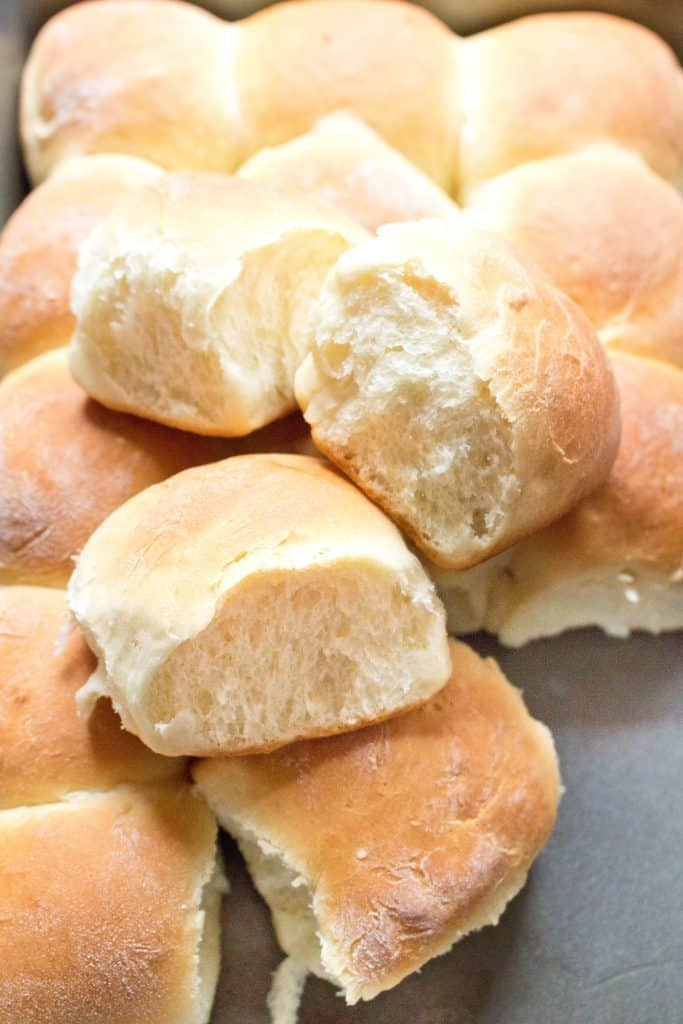 Homemade bread is always better and these Easy Dinner Rolls From Scratch are so simple to make that you'll never want to go back to store bought again!