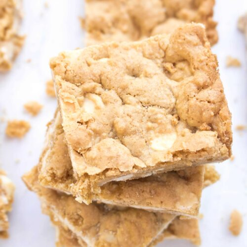 When you're not in a chocolate mood, these White Chocolate Blondies From Scratch are the perfect soft and chewy alternative.