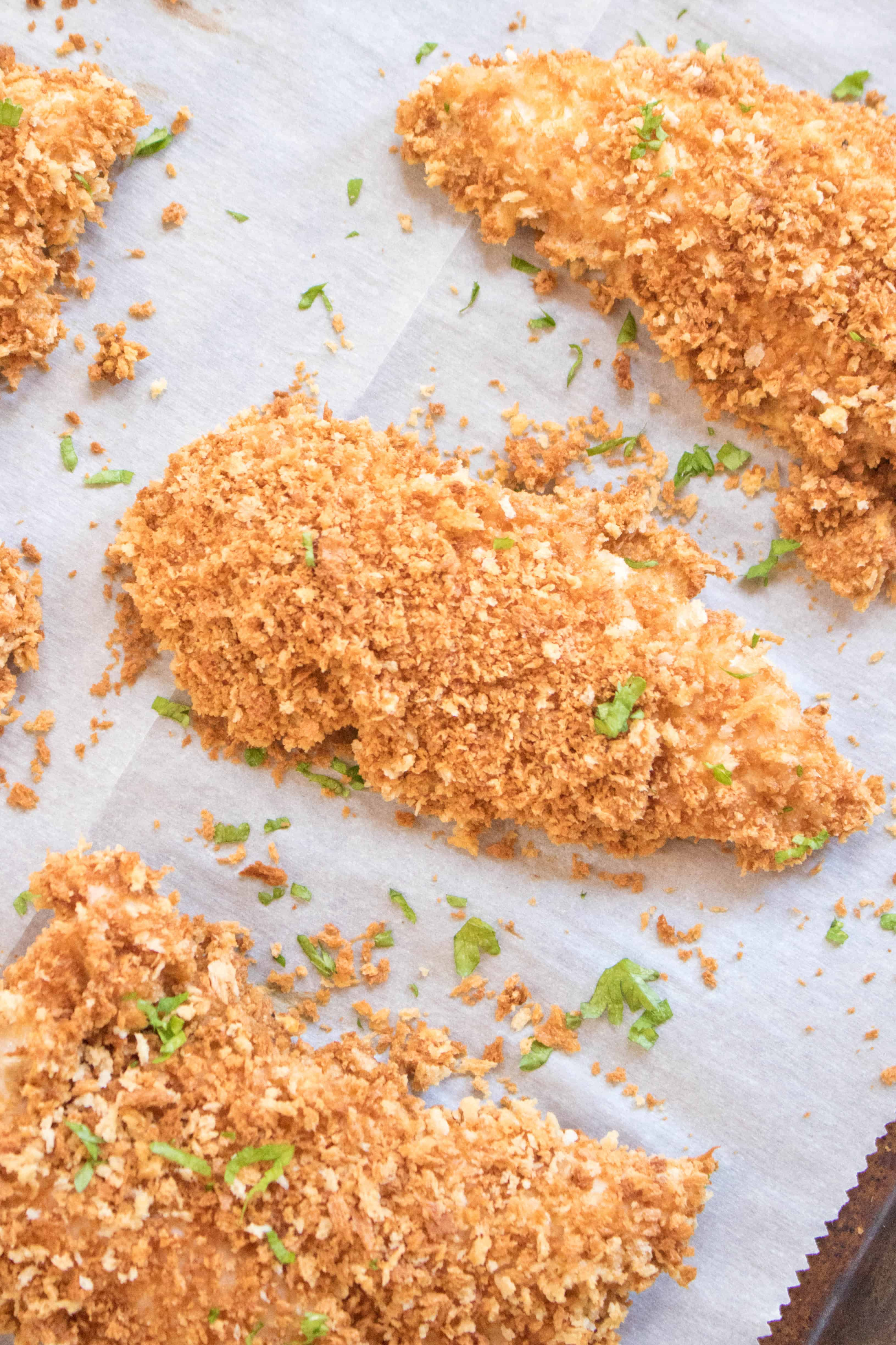 Baked Panko Chicken Tenders