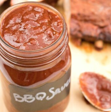 It's a favorite and it's a staple in our house. It's the Best BBQ Sauce From Scratch! It's the reason we stopped using store bought bbq sauce!