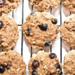 These toddler approved Healthy Blueberry Oatmeal Cookies are super soft, chewy, and the perfect way to use those fresh picked blueberries!