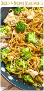 These Chicken and Broccoli Sesame Noodles are delicious, simple to make, and a healthy alternative to take out that can be done in just 30 minutes!