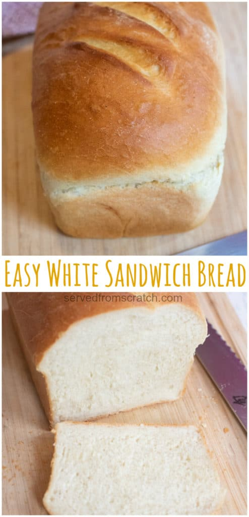 This Easy White Sandwich Bread is a super simple, easy to make classic white bread that's a great introduction to bread making! #bread #homemadebread #sandwichbread #recipe #easy #whitebread