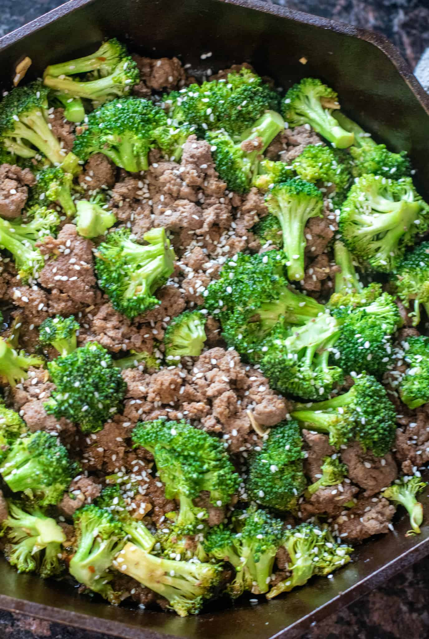 Easy Ground Beef And Broccoli Served From Scratch