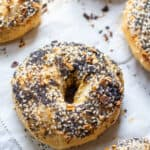 Cooked everything bagels from scratch on baking sheet