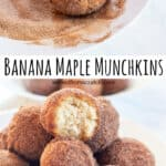 cinnamon sugar coated munchkins