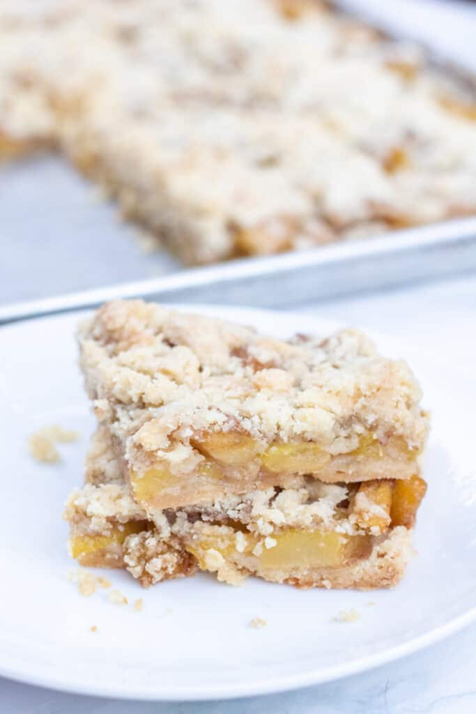 2 stacked baked zucchini bars