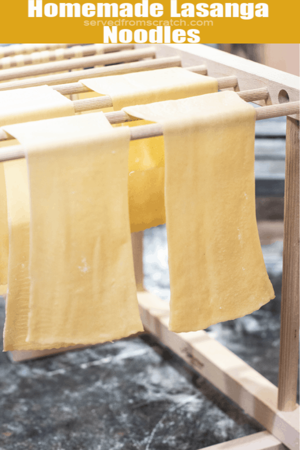 lasagna noodles hanging to dry