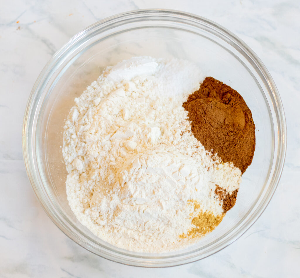 flour and spices mixture in a bowl