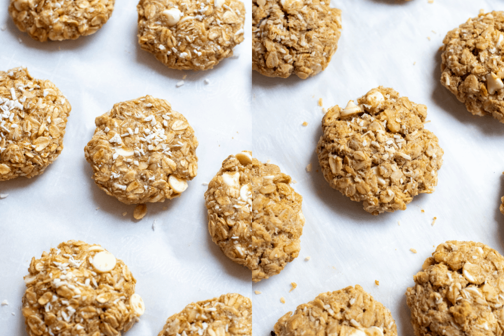 baked and unbaked cookies on a cookie sheets.